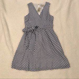 NWT LOFT Blue/White Stripe Dress